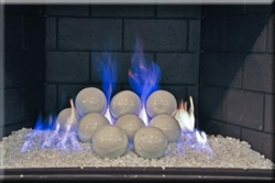 4 inch white porcelain coated Fire balls