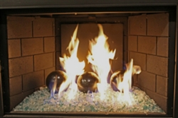 High fire Dark Brown porcelain coated high fire Terracotta fireball