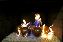 High fire Terracotta fireball available in 6inch Light Brown - porcelain coated.