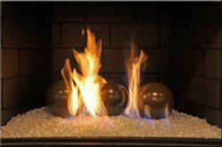 High fire 6inch Light Brown porcelain coated high fire Terracotta fireball