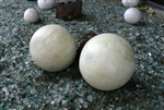 Decorative light green lawn and garden balls