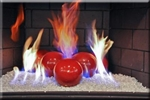High fire 6inch red porcelain coated high fire Terracotta fireball