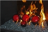High fire Red on Dark Brown porcelain coated high fire Terracotta fireball