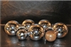 6 inch silver chrome high fire Terracotta fireball