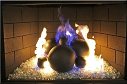 Matte Black high fire terracotta Fireball