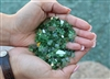 "1/4"" inch Dark Emerald green fireglass"