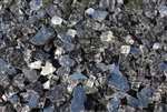 Light gray metallic pyrite fireglass