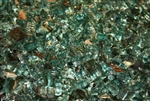 "1/4"" inch blue green reflective fireglass"