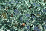 "1/4"" inch ever-green reflective fireglass"