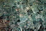 "3/8"" inch Chunky blue green fireglass"