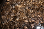 "3/8"" inch thick bronze fireglass"