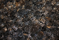 Chunky gray colored Fireglass