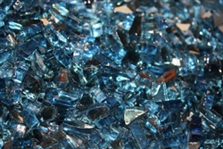 V Blue Reflective fireglass