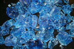 Light bright blue fire crystals