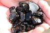 Dark black fire crystals