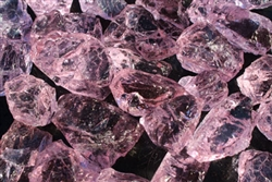 Light magenta fire crystal for fire pits