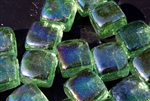 Aqua Green bluegreen square shaped fire crystals