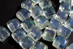 Clear square shaped fire crystals