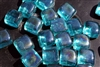 Blue square shaped fire crystals