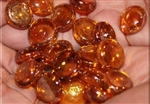 Round Amber drop fire crystals