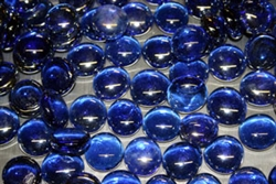 Round Cobalt Blue drop fire crystals