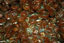 Round Orange Swirl drop fire crystals