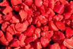 Deep Red colored chunky fire stones
