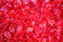 Vibrant Red colored chunky fire stones