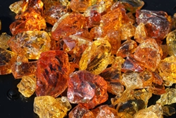 Yellow Orange Amber Fire crystals