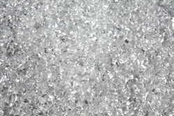 Clear white fire crystals
