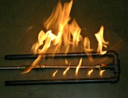 Double steel pipe fireplace burner