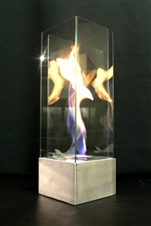 VortexED55 fire in glass
