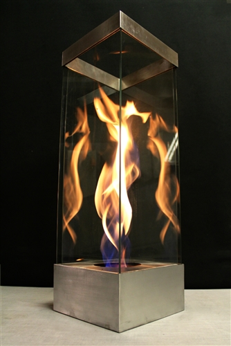 Outdoor Aluminum Portable glass in fire feature. Safe indoor table ...