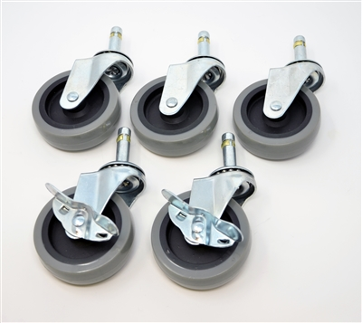 "Grit Guard 3"" Caster Replacement Set - GREY"