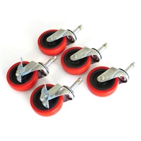"Grit Guard 3"" Caster Replacement Set - RED"