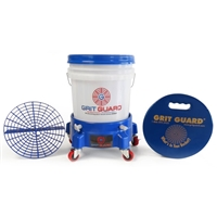 Grit Guard 5 Gallon Washing System with Dolly and Seat Cushion