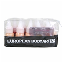European Body Art Endura Face Off Skin Tone with Adjusters Light 10 pack