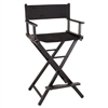 Sunrise Aluminum Makeup Artist Chair, Black