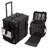 Sunrise Makeup Trolley Case, Black Nylon