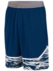 "Youth 8"" Inseam ""Classic Camo Impress"" Moisture Control Basketball Shorts A1118HOP"