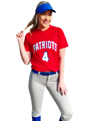 "Womens/Girls ""Splitter"" Two Button Softball Uniform Set With Pants A1567-1566SOF-SETP"