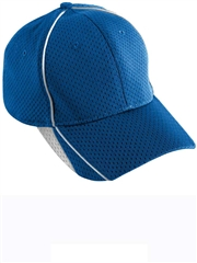 Athletic Wicking Mesh Velcro Adjustable Baseball Cap A6280-6281BAS