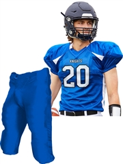 "Adult/Youth ""Route Runner"" Poly Stretch Mesh Football Set with Integrated Pants CFJ20A-FJ20YFB-SET"