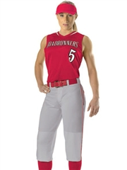"Womens/Girls ""Hard Hitter"" Racerback Softball Uniform Set With Pants D551JW-551JWYSOF-SETP"