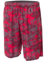 "Youth 8"" Inseam ""Camo"" Moisture Control Basketball Shorts NB5322HOP"