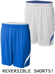 "Youth 9"" Inseam ""Hang Time"" Moisture Control Reversible Basketball Shorts NB5364HOP"