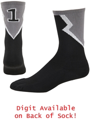 """Lightning"" Player ID Crew Socks ROSTERSOCKHOP"