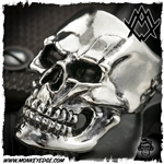 Ace Metal Works Ring: Ace Bolt Skull Large Polished - Silver