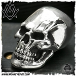 Ace Metal Works Bead: Ace Bolt Skull - Silver