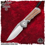 Chris Reeve Knives: Inkosi Small Drop Point Inlay - Natural Micarta